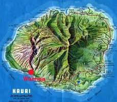 カウアイ島の地図は実に面白い!